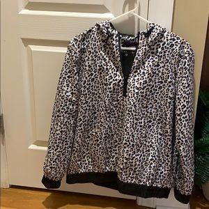 Vigoss Leopard 1/4 zip water resistant raincoat